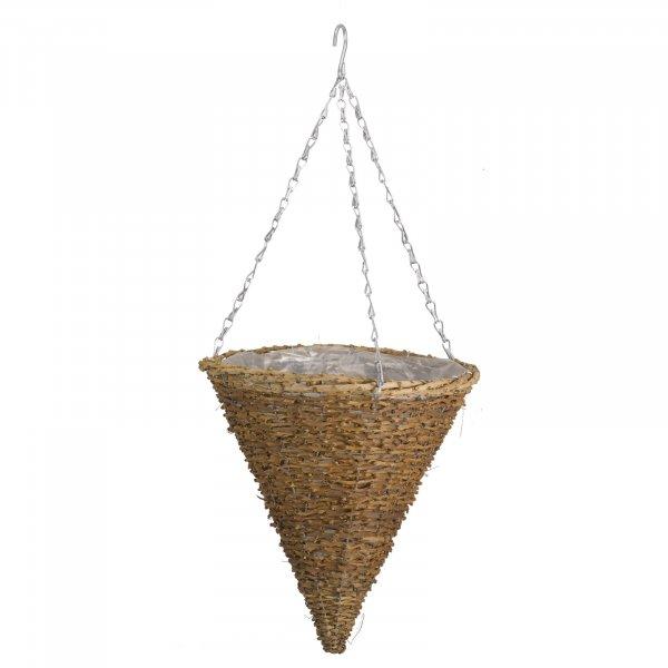 "Smart Garden 12"" Country Rattan Hanging Cone"