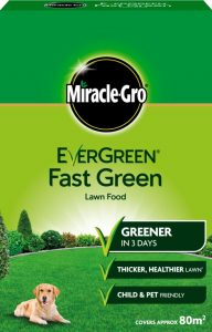 Miracle Gro Evergreen Fast Green Lawn Food - 80m2 Box