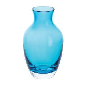 Dartington Crystal Amphora Vase - Teal - Small