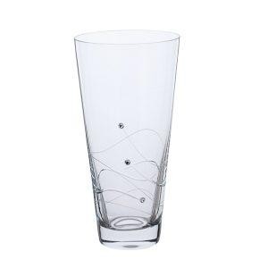 Dartington Crystal Glitz Small Conical Vase