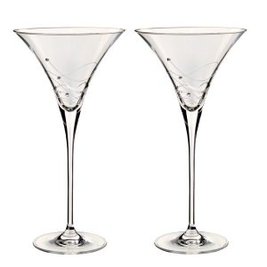 Dartington Crystal Glitz Martini Glasses - Pair
