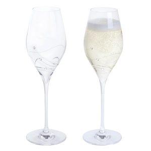Dartington Crystal Glitz Prosecco Glasses - Pair