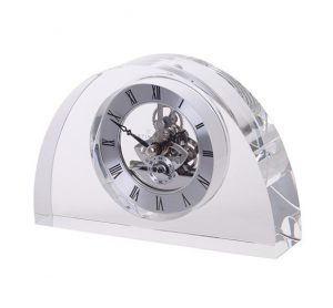Dartington Crystal Clocks Half Moon - Clear