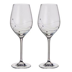 Dartington Crystal Glitz Wine Glasses - Pair