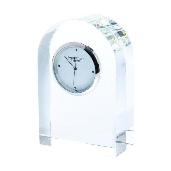 Dartington Crystal Clock - Clear Curve - Small
