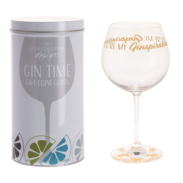 Dartington Crystal Glass Gin Time 'You're My Ginspiration'