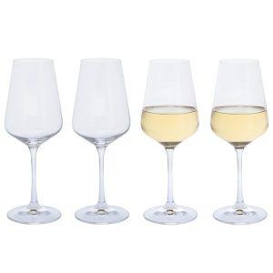 Dartington Crystal Cheers! White Wine Glasses - 4pk