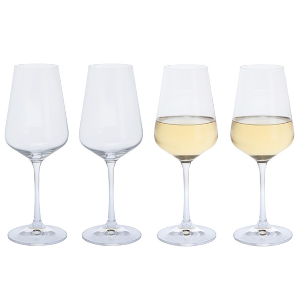 Dartington Crystal Cheers! White Wine Glasses - 4pk