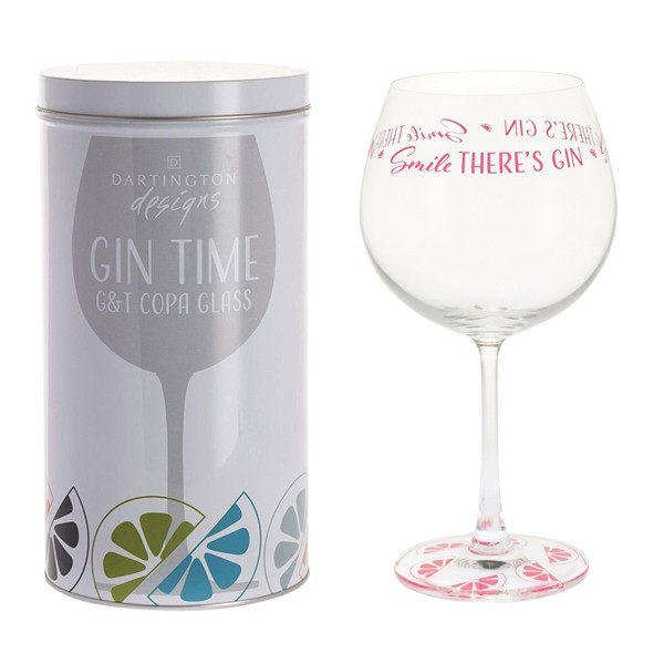 Dartington Crystal Glass Gin Time 'Smile There's Gin'