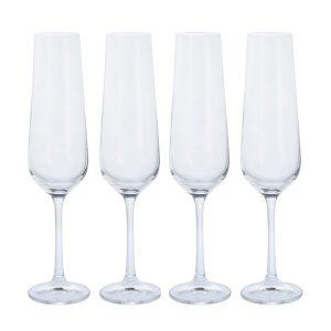 Dartington Crystal Cheers! Flute Glasses - 4pk