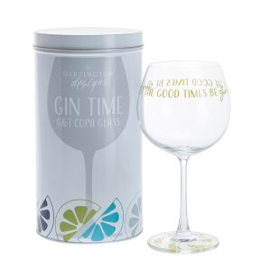 Dartington Crystal Glass Gin Time 'Let The Good Times be Gin'