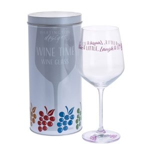 Dartington Crystal Glass Wine Time 'Wine A Little, Laugh A  Lot'