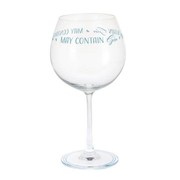 Dartington Crystal Glass 'Gin Time 'May Contain Gin'