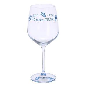 Dartington Crystal Glass Wine Time 'Its Wine O Clock'
