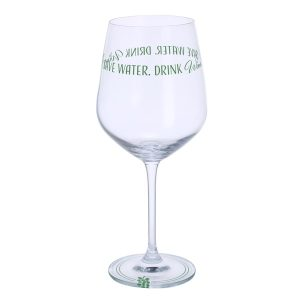 Dartington Crystal Glass Wine Time 'Save Water, Drink Wine'