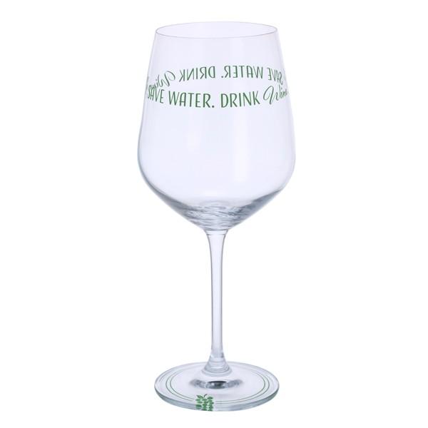 Dartington Crystal Glass Wine Time 'Save Water, Drink Wine'