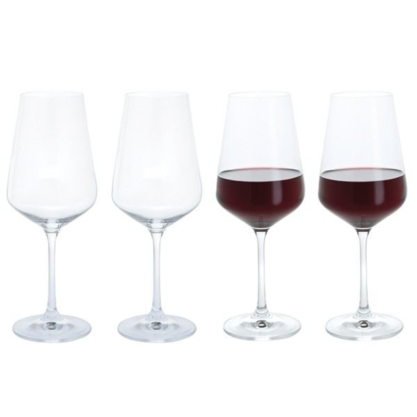 Dartington Crystal Cheers! Red Wine Glasses - 4pk
