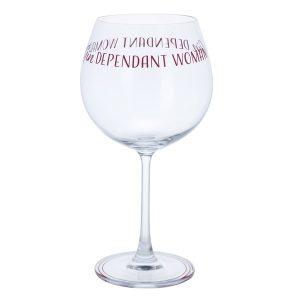 Dartington Crystal Glass Gin Time 'Gindependent Woman'