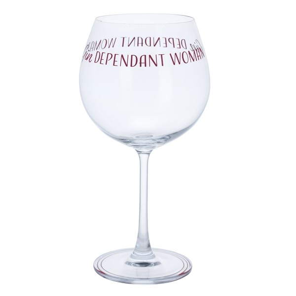 Dartington Crystal Glass Gin Time 'Gindependent Woman'
