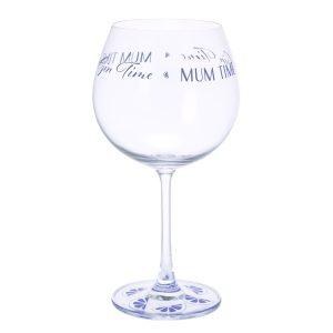 Dartington Crystal Glass 'Gin Time Mum Time'