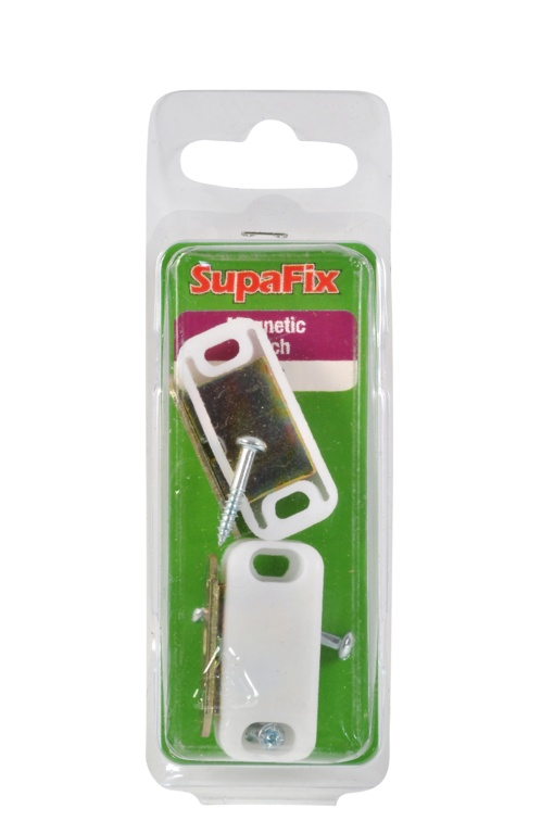 SupaFix Magnetic White Catch Pack 2