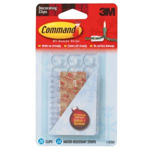 Command Indoor Outdoor Decorating Clips 20pk