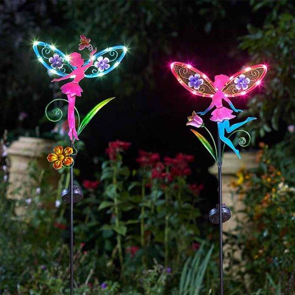 Smart Garden Fairy Wings Stake Solar Light