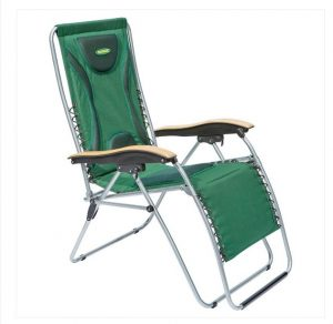 Outback Padded Relaxer  With Timber Armrest  - Green