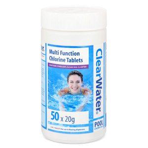 Clearwater 20g Multifunction Chlorine Tabs - 1kg