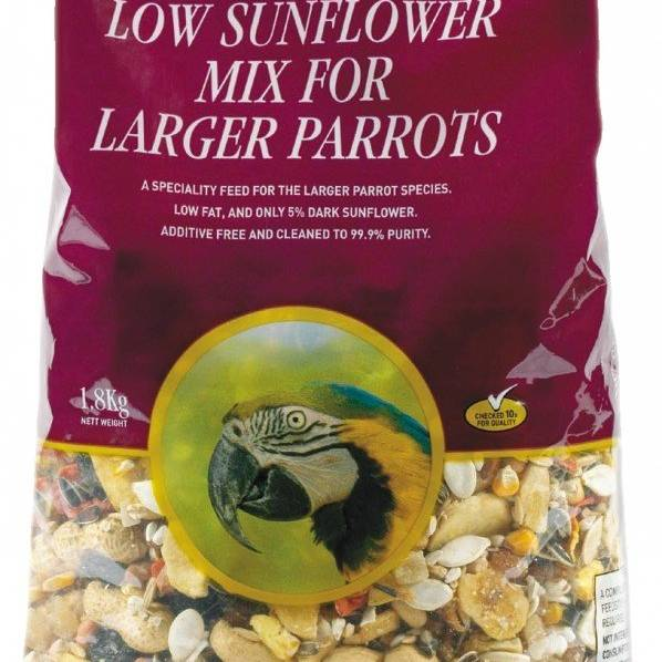 Johnston & Jeff Low Sunflower for Large Parrots 2kg