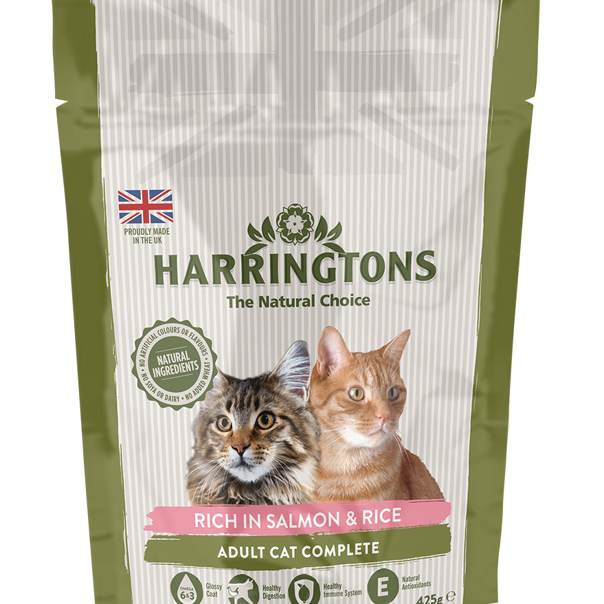 Harringtons Complete Cat Food - Salmon & Rice 425g