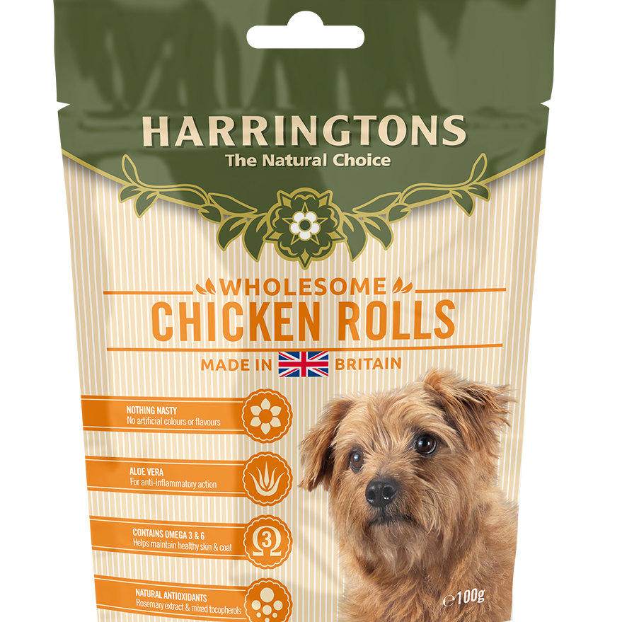 Harringtons Chicken Rolls Dog Treats 100g