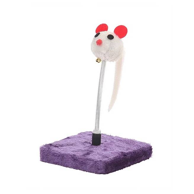 Purple Mouse Spring Cat Toy - 22cm