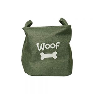 Rosewood Canvas Pet Toy Basket - Green