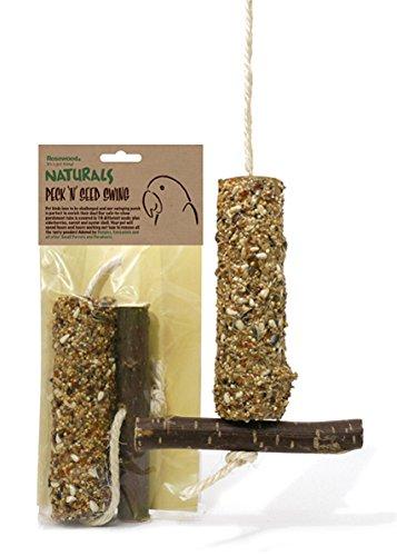 Rosewood Bird Peck 'n' Seed Swing