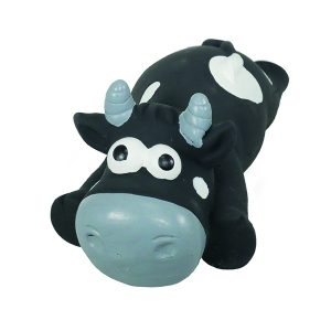 Jolly Doggy Latex Flat Cow Dog Toy