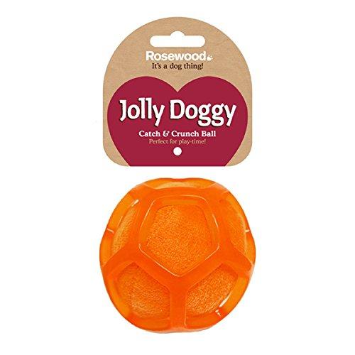 Jolly Doggy Catch & Crunch Ball Dog Toy