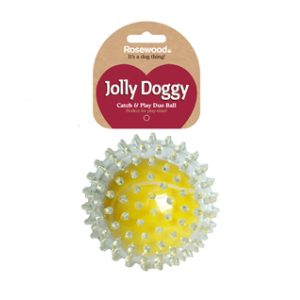 Jolly Doggy Catch & Play Tennis Ball Dog Toy