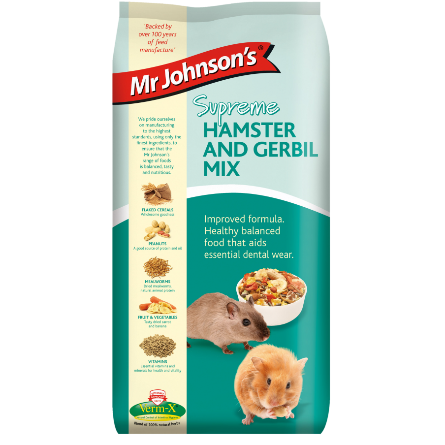 Mr Johnson's Supreme Hamster & Gerbil Food Mix - 900g