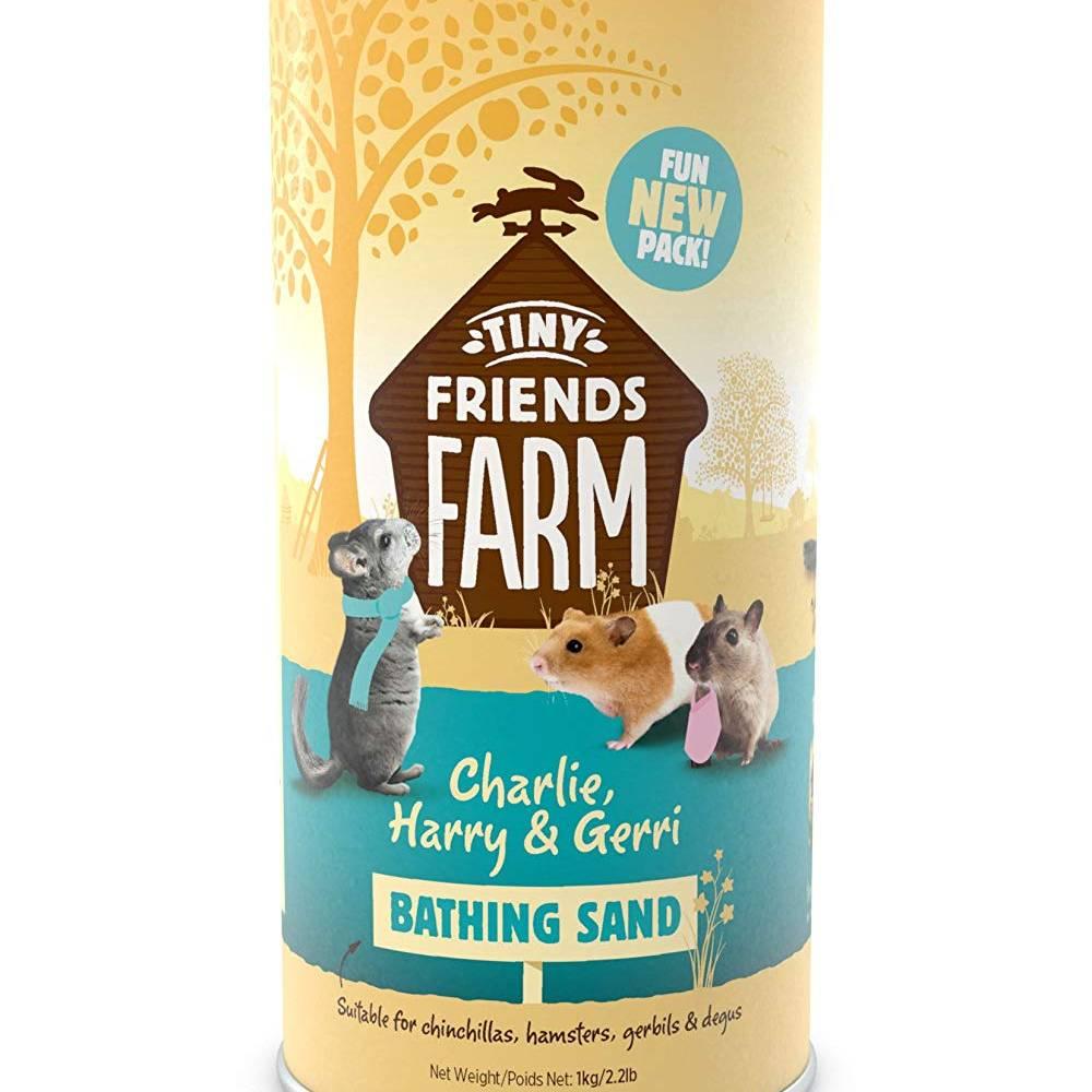 Supreme Tiny Friends Farm Charlie, Harry and Gerri Pet Bathing Sand - 1kg