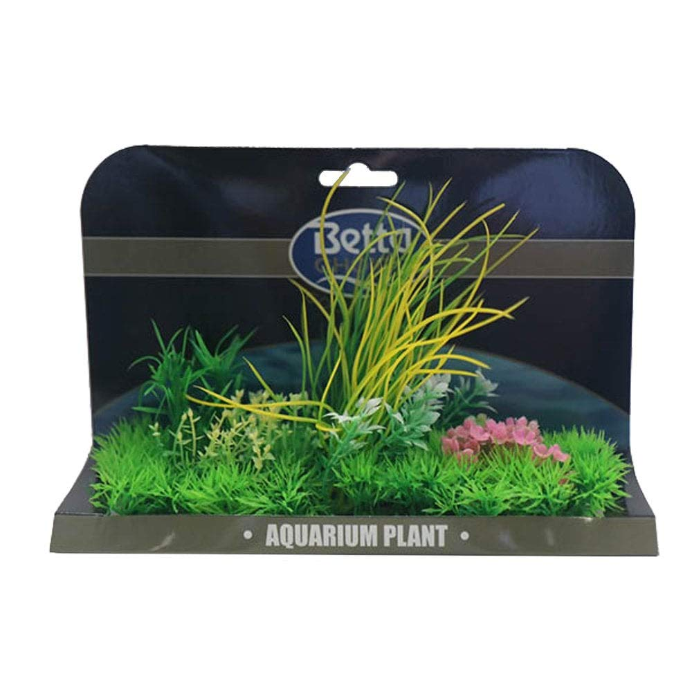 Betta Choice XL Plant Mat - Green & Pink