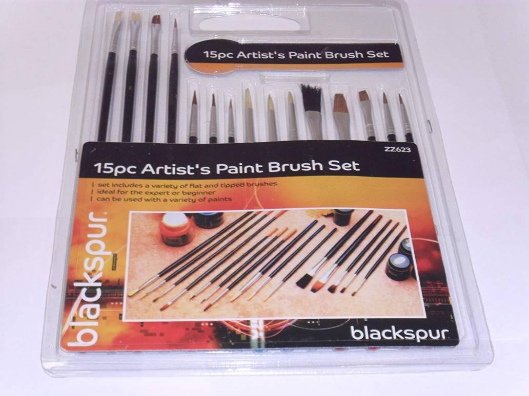 Blackspur 15Pc Artist'S Paint Brush Set