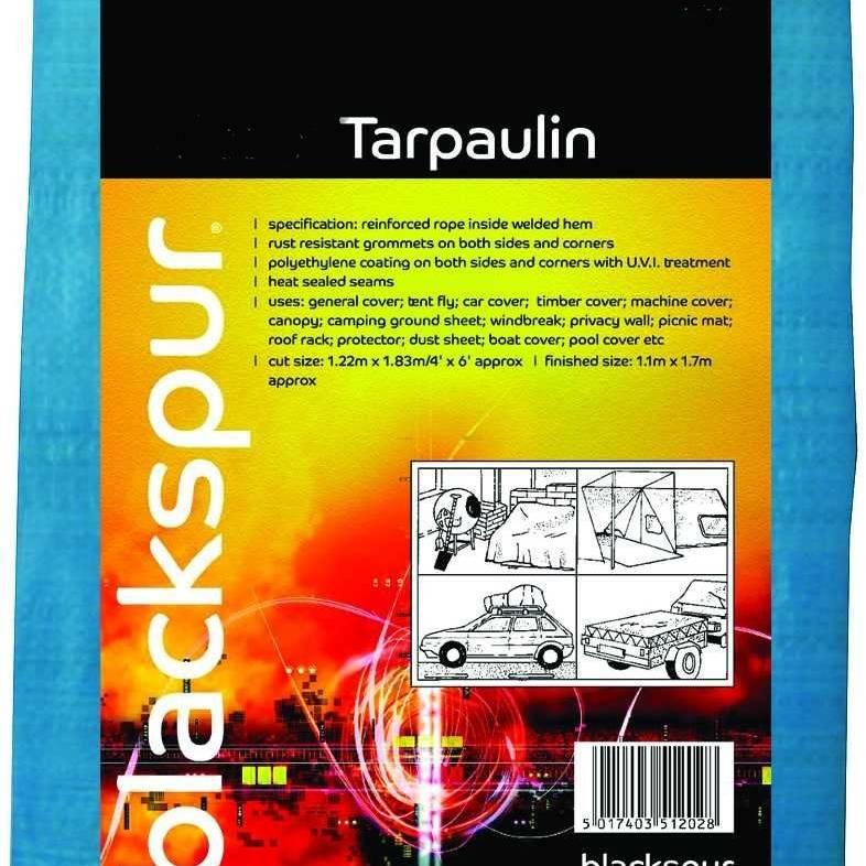 Blackspur 10'(3M) X 12'(3.6M) Tarpaulin - Blue