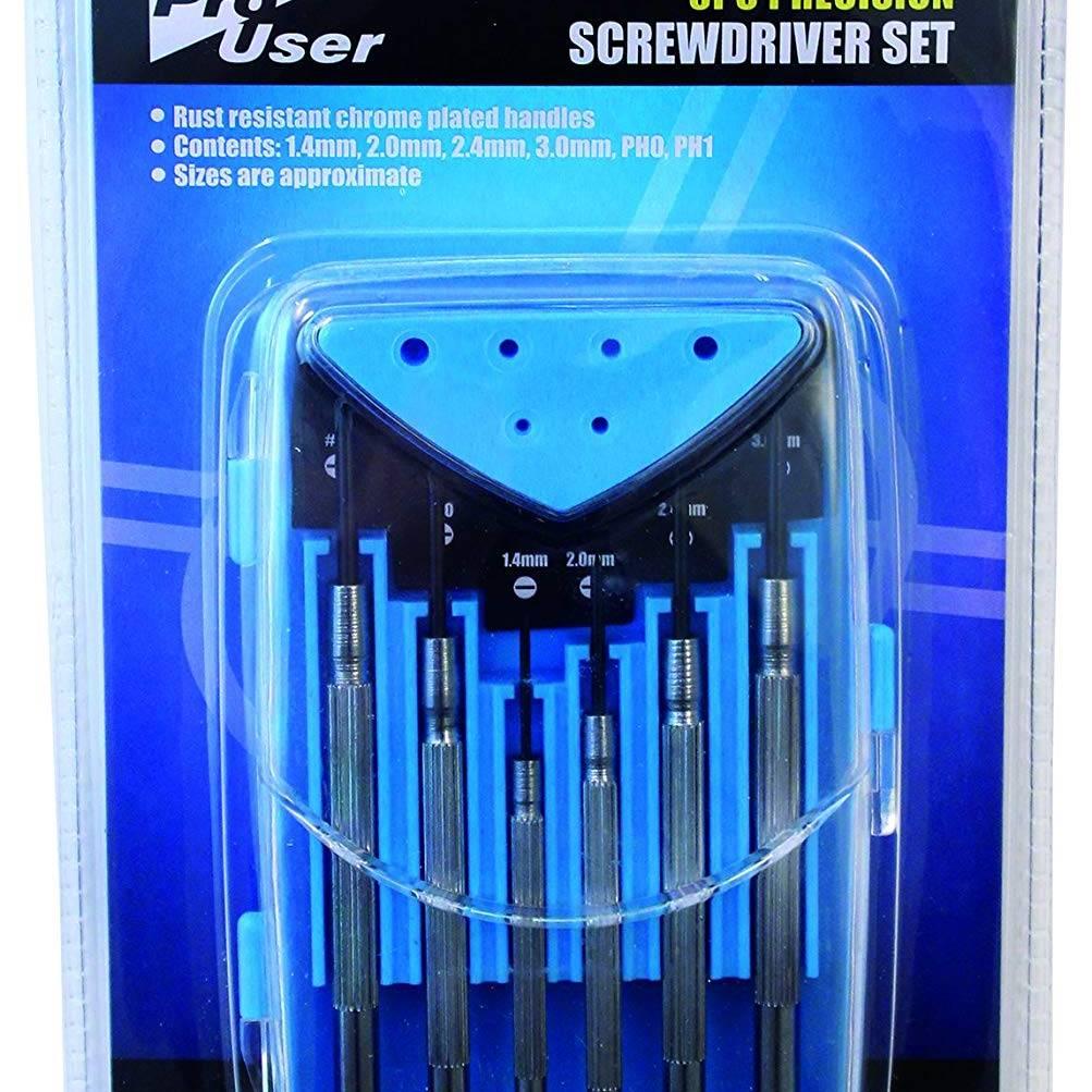 Blackspur 6 Pc Precision Screwdriver Set