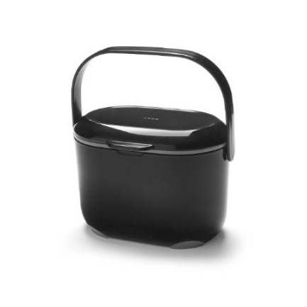 Addis Kitchen Compost Caddy Black & Metallic 2.5 ltr