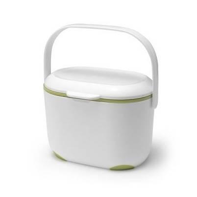 Addis Kitchen Compost Caddy White & Green 2.5 ltr