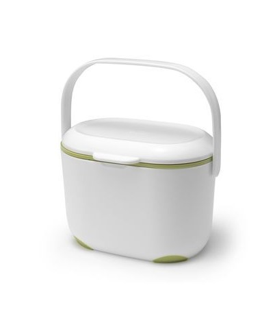 Addis Kitchen Compost Caddy White & Green 2.5 ltr