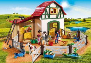 Playmobil 6927 Country Pony Farm with 2 Pony Stalls and Storage Loft