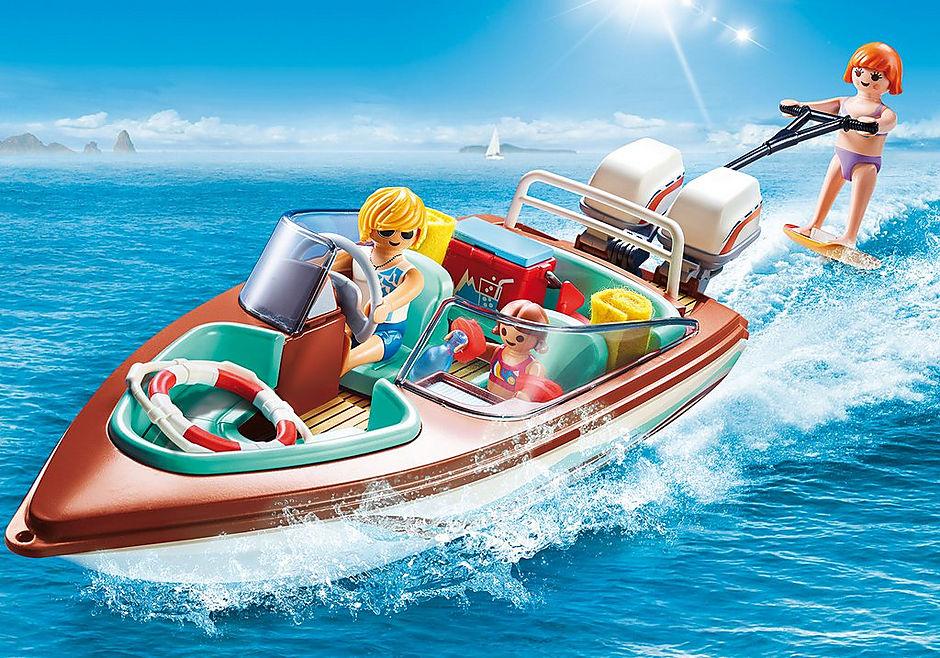 Playmobil 9428 Family Fun Floating Speedboat with Underwater Motor