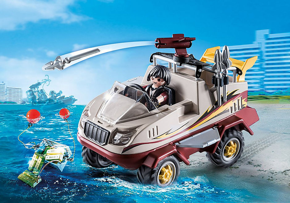 Playmobil 9364 City Action Amphibious Truck with Underwater Motor